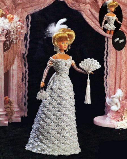 Платье для бала - 1901. Крючком