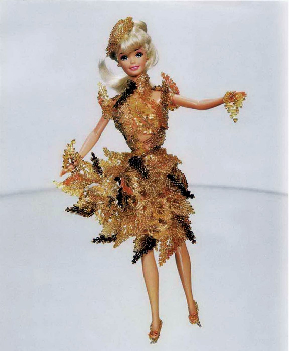 Бисерные платья для Барби. Схемы бисероплетения