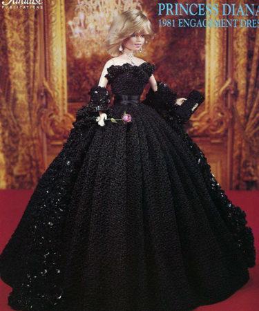 Платье «Помолвка Принцессы Дианы». Крючком