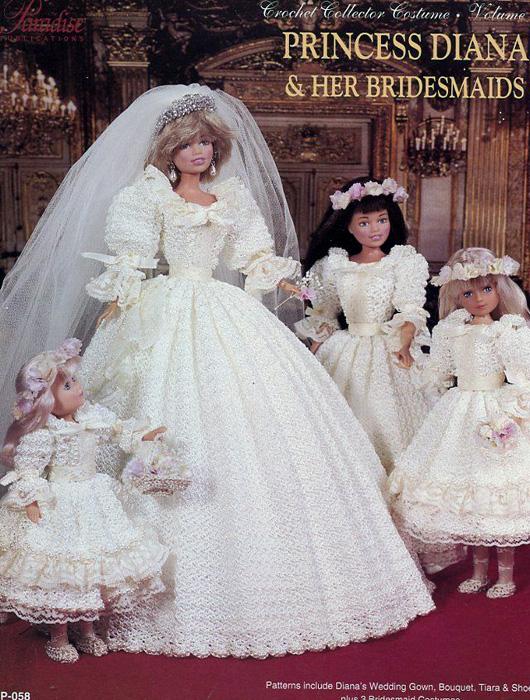 Свадебное платье принцессы Дианы. Крючком