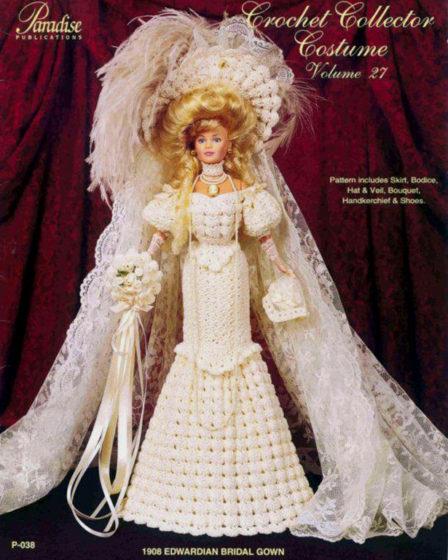 Эдвардианское свадебное платье. Крючком