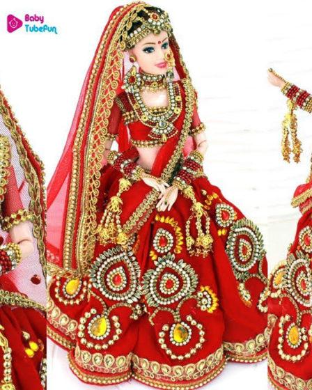 Кукла в индийском свадебном наряде. Мастер-класс