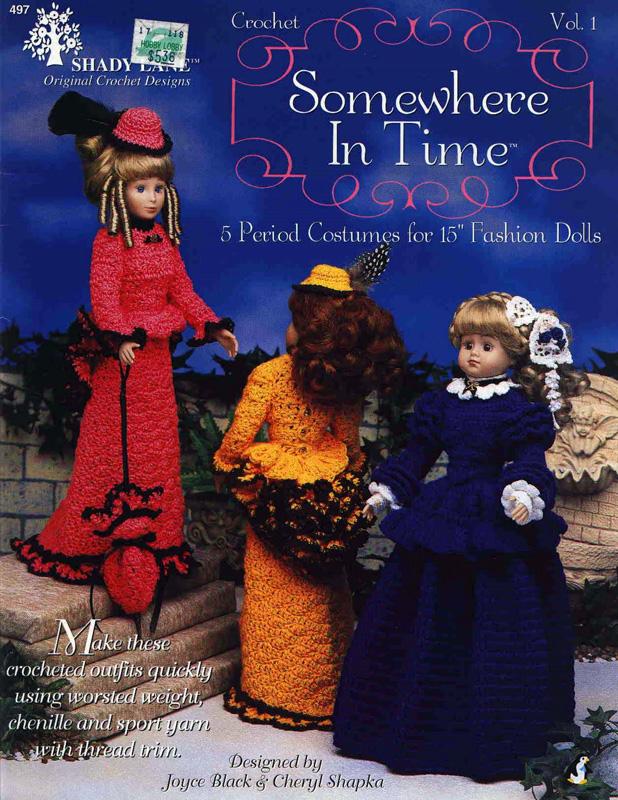 Исторические платья куклам 38 см. Крючком