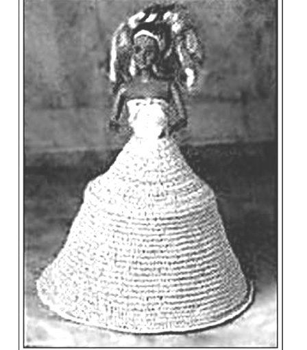 Вязаный каркас на обручах. Календари 97-98 годов