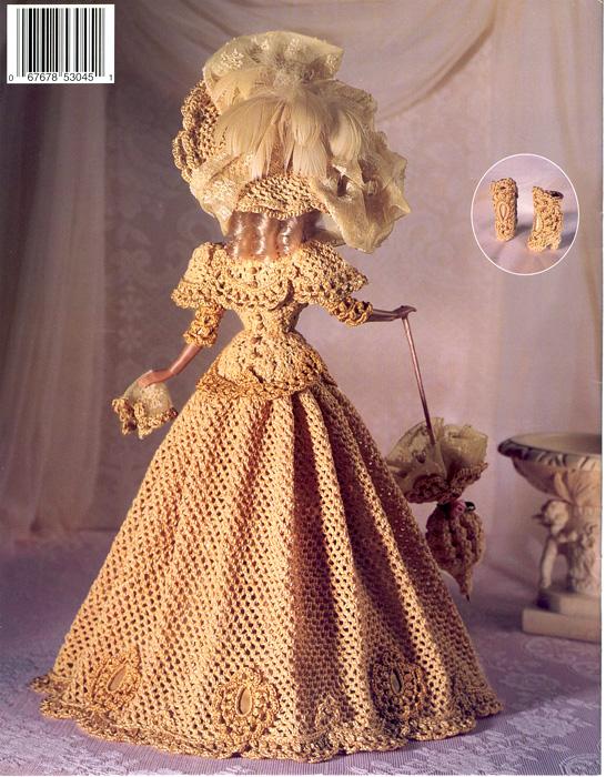 Кружевной костюм. Крючком для Барби