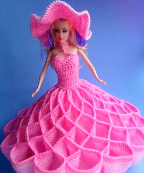 "Платье для куклы ""100 кармашков"". Крючком"