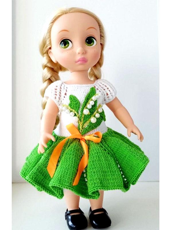 """Платье """"Ландыши"""" для кукол Дисней"""