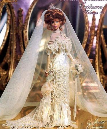 Костюм невесты эпохи короля Эдуарда. Крючком