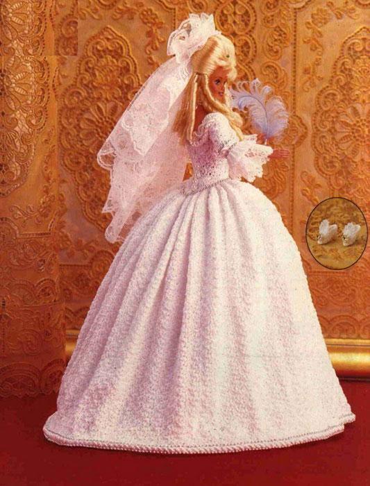 Платье невесты Людовика XYI. Крючком