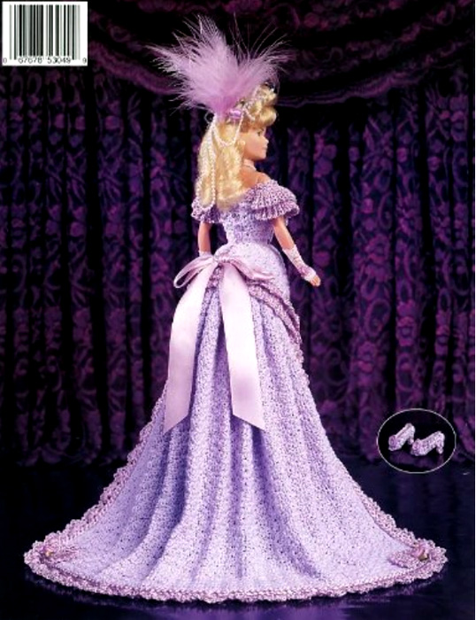 Платье дебютантки бала. Крючком