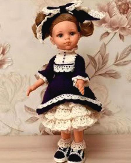 Платье в стиле лоли для Паолы. Крючком