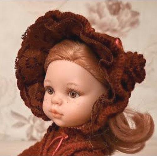 Капор для куклы. Крючком