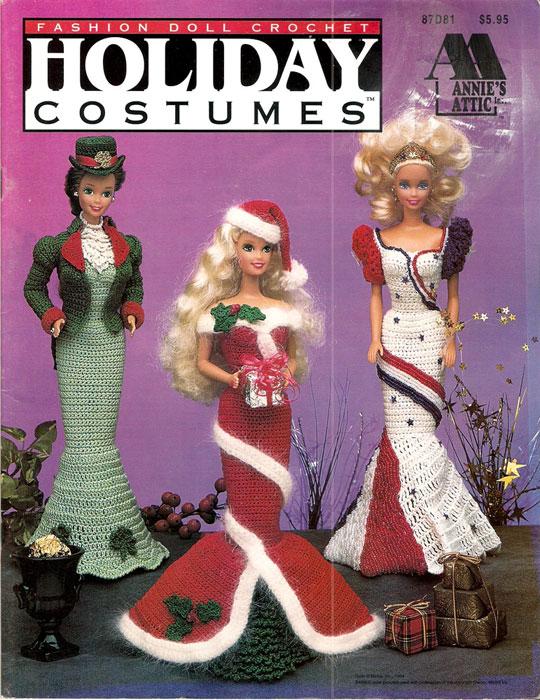 """Платья """"Праздничный день"""". Крючком для Барби"""