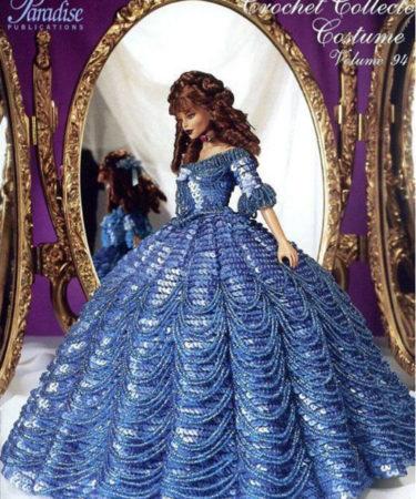 Платье «Приглашение к котильону». Крючком