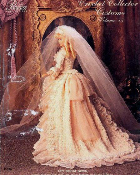 Свадебное платье 1874 года. Крючком