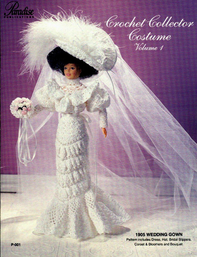 Великолепное свадебное платье. Крючком