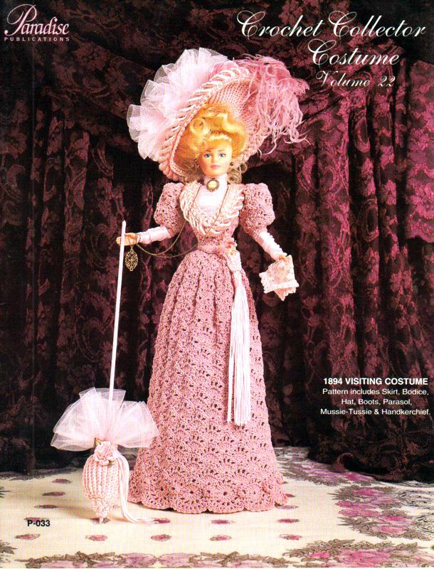 Розовый визитный костюм. Крючком для Барби