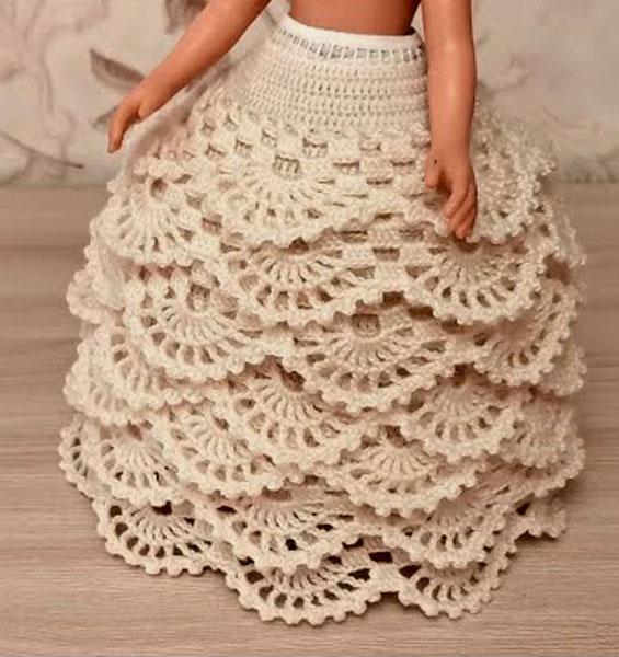 Вязаная крючком юбка-кринолин