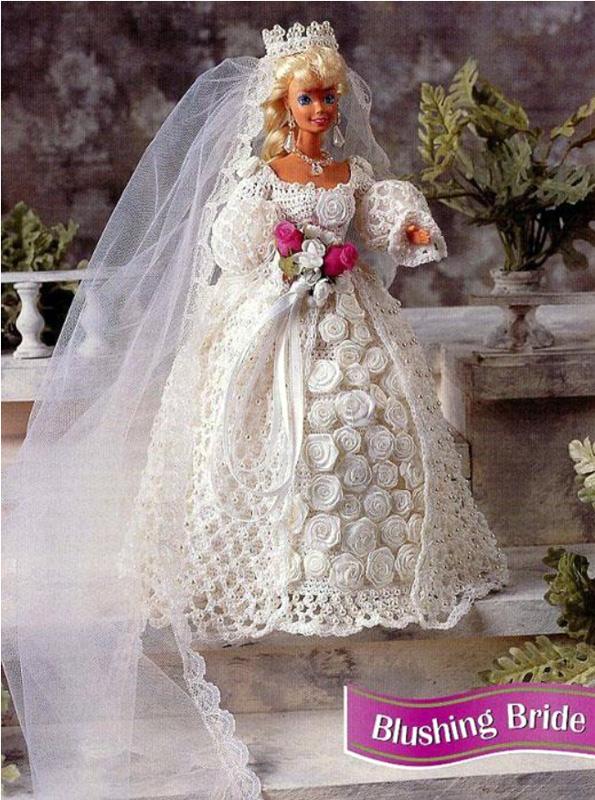 """Свадебное платье """"Застенчивая невеста"""". Крючаком"""